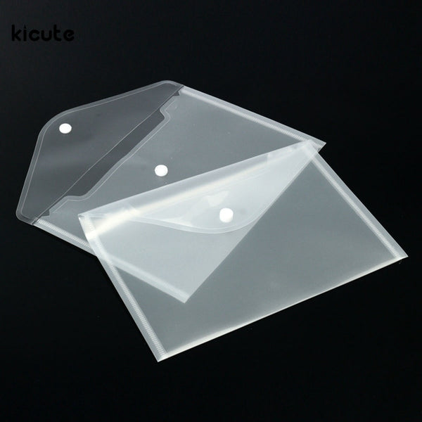 12pcs/set Best Transparent Plastic A5 Folders File Bag Document Hold Bags Folders Filing Paper Storage Office School Supplies