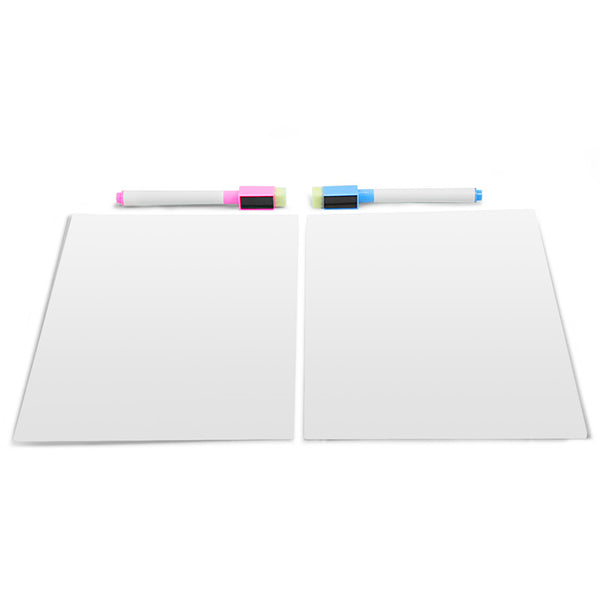 white board magnetic white writing board fridge board message board 2pieces set(2 normal markers as a gift)