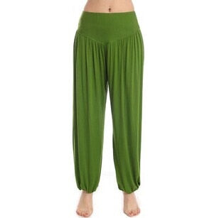 Cotton High Waist Stretch Women Harem Pants S port Pants Flare Pant Dance Club Boho Wide Leg Loose Long Trousers Bloomers Pants
