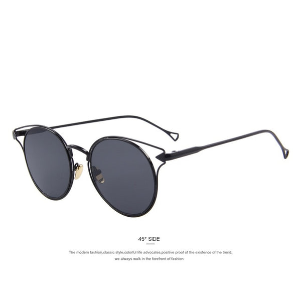 MERRY'S Fashion Women Cat Eye Sunglasses Round Alloy Frame Brand Designer Sunglasses Classic Sunglasses S'8532