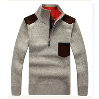 HEE GRAND Men's Sweaters New Arrival Autumn Winter Casual Stand Collar Thick Zipper Pullover M-3XL Size 7 Colors MZL521