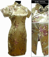 Black Traditional Chinese Dress Mujer Vestido Women's Satin Qipao Mini Cheongsam Flower Size S M L XL XXL XXXL 4XL 5XL 6XL J4039