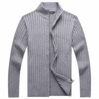 HEE GRAND Men Casual Style Sweater Stand Collar Whole Cotton Material Slim Fitted Autumn Zipper Cardigan Plus Size M-3XL MZM509