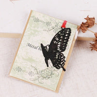 DIY Cute Kawaii Black Butterfly Feather Metal Bookmark for Book Paper Creative Items Lovely Korean Stationery Gift Package