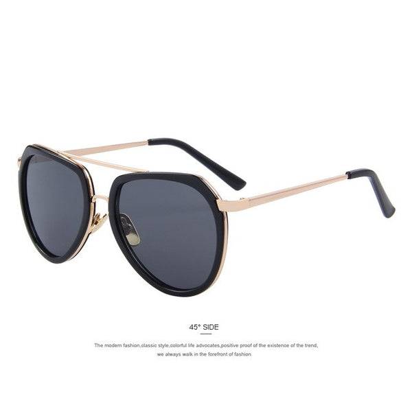 MERRY'S Women Double beam Sunglasses Fashion Women Sunglasses Coating Mirror Flat Panel Lens S'8019
