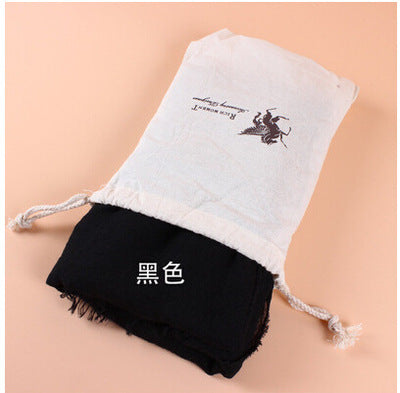 2017 New Fashion Style Women Scarf Pashmina Solid Cotton Linen Female Scarf  Keep Warm Literature 190x160cm  with A Bag