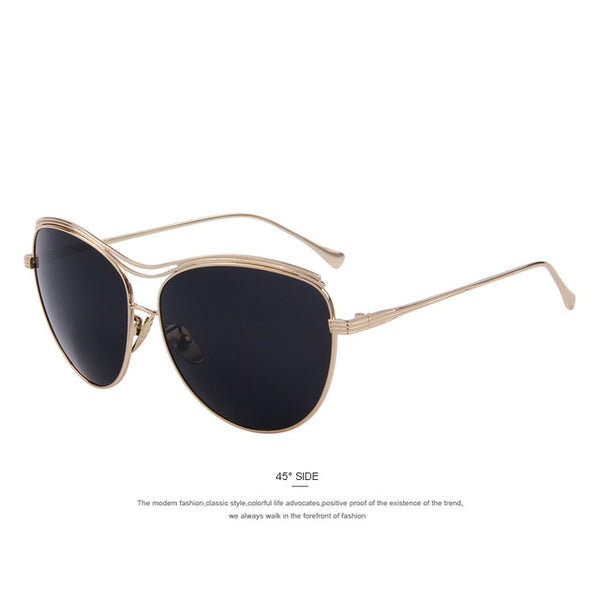 MERRY'S Fashion Women Butterfly Sunglasses Brand Designer Classic Shades Luxury Metal Sunglasses UV400
