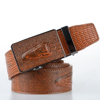 COWATHER 2017 top quality faux leather belts for men Crocodile pattern automatic buckle men belt cinto masculino original brand