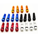 4pcs Bolt-in Aluminum Car Tubeless Wheel Tire Valve Stems With Dust Caps Blue Red Silver Black Gold