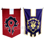 World of Warcraft WOW Alliance Horde Banner Flag Dacron Blue Home Decor Cosplay Accessory