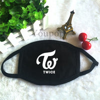 KPOP TWICE Album Logo Dust Cotton Mouth-muffle Face Mask Maschere Antipolvere Masques KZ151