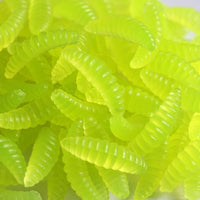Anmuka Brand Promotion!! HOT SELL!! 50PCS 2cm 0.3g maggot Grub Soft Lure Baits smell Worms Glow Shrimps Fishing Lures 21001-50