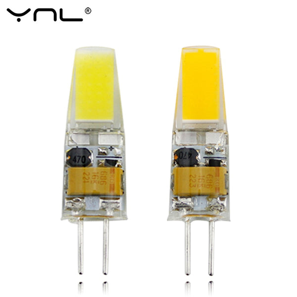 YNL G4 LED Lamp AC DC 12V Mini Lampada LED Bulb G4 1505 COB Chip Light 360 Beam Angle Lights Replace 30W Halogen G4 Spotlight