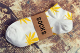 Hot sale! men socks cotton Spring Summer and Autumn men's brand Weed Sock Colorful male short socks