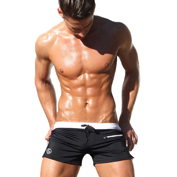 Aimpact New Men's Swimwear Surfing Men Swimming Shorts Summer Holiday Men Beachwear Swimsuit Popular Swim Short AQ02