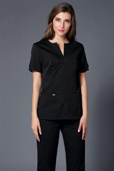2017 Summer women hospital medical scrub clothes set dental clinic and beauty salon nurse uniform  fashionable design slim fit
