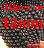 "5A Quality !  Black Dull Polish Matte Onyx Agata Round natural stone Beads 16""/Strand 4 6 8 10 12 14 MM Pick Size  No.BOB01"