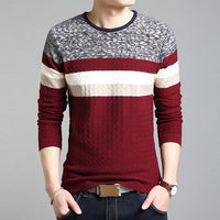 HEE GRAND Men Sweater Winter Round Neck Knitted Sweaters Male Casual Autumn Cashmere Pullovers Men's Thick Warm Knitwear MZL716