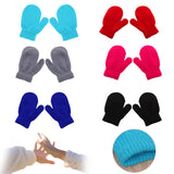 Unisex Knitting Warm Soft Gloves Kids Boys Girls Candy Colors Mittens Cute