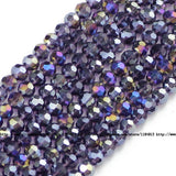 JHNBY Football Faceted Austrian crystal beads 4mm 100pcs High quality Round sphere Loose beads for jewelry making bracelet DIY