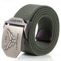 Army Military Tactical Canvas Belt for Men Women Jeans Belt Sport Metal Buckle Waist Strap battle belts cinturones hombre 140