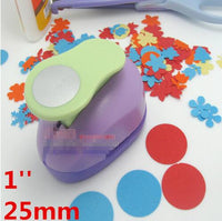 1'' Circle punch 25mm diy craft hole puncher for scrapbooking punches eva maker Kids scrapbook paper cutter Embossing sharper