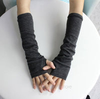 Free Ship New Fashion Winter Mitten Warm Unisex Men Women Arm Warmer Fingerless Knitted Long Gloves Mittens Retail BPJ110E