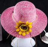 2017 summer hats for women Fashion Vintage Linen Beach hat outdoor sunflower hat Feminino Fedora Hat Ladies Chapeau 6 Colors