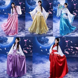 Traditional Hanfu Cosplay Clothing Women's Ancient Tang Dynasty Empress Dress Red White Yellow Women Chinese Ancient Costume