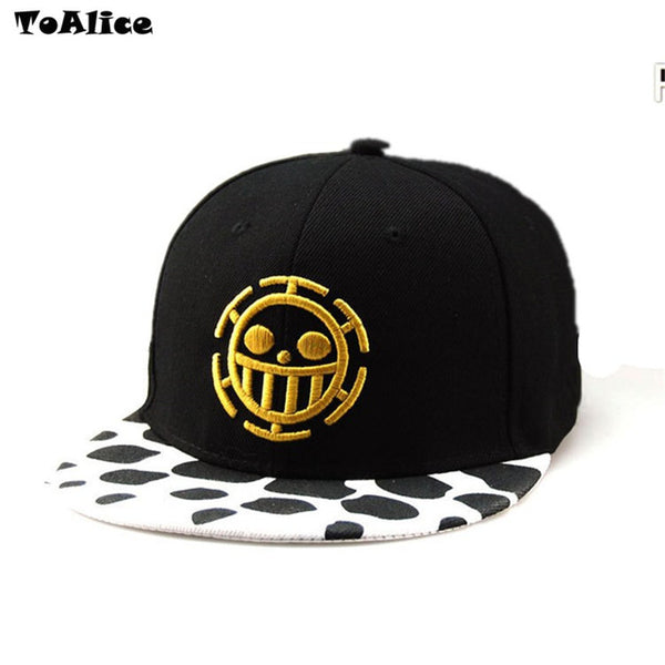 Wholesale Lots Anime One Piece Hat Baseball Cap Trafalgar Law Hats Cosplay Caps For Women Men Hip Hop Snapback Caps Flat Hat