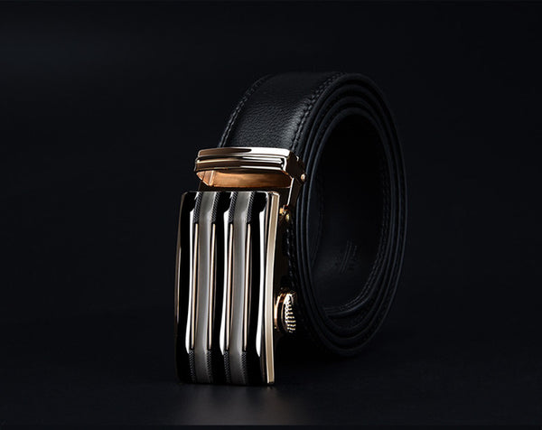 COWATHER 2017 luxury men`s genuine leather belts for men automatic alloy buckle big size top quality 110-130cm cz030 huaqiang
