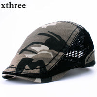 xthree Fashion camouflage Beret Cap sway cap Hats for Men and Women Visors Sun hat Gorras Planas Flat Caps Berets
