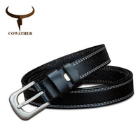 COWATHER genuine leather belts for women 2.2 cm width colorful girl strap lady fancy cowskin luxury female belt dropshipping
