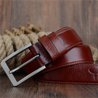 COWATHER 2017 top cow genuine leather men belts for men fashion jeans style pin buckle male strap luxury quality original brand