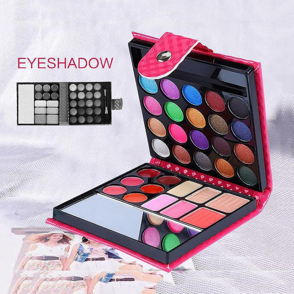 Women Pro 32 Colors shimmer matte Small Makeup Eyeshadow Palette Fashion Face Eye Lips Make Up Kit With Case Cosmetics