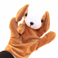 1 PC Baby Kids Child Animal Dog Finger Puppet Plush Baby Favor Dolls Educational Hand Toy Infant Kids Toy Plush Toys