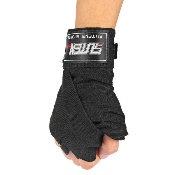 1 Pair Width 5cm Length 2.5M Cotton Wrist Support Boxing Bandage #YL