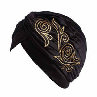 Brand New Embroidery Women Hat Beanie Scarf Turban Head Wrap Cap Colorful beanie Hats for Patients