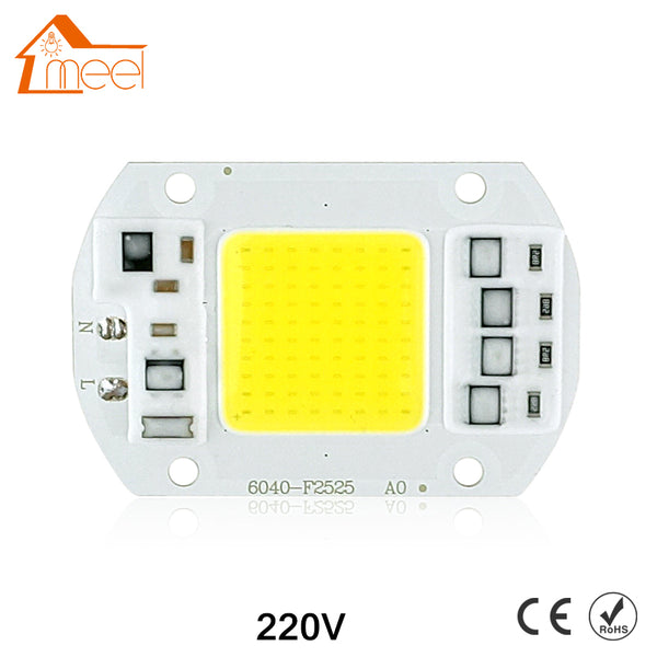 COB LED Lamp Chip 10W 15W 20W 30W 50W LED COB Bulb Lamp 220V IP65 Smart IC Driver Cold/ Warm White LED Spotlight Floodlight