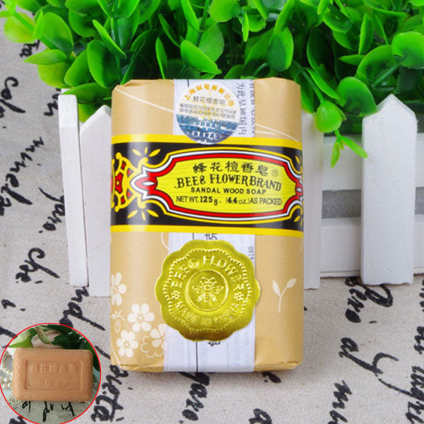 25g Bee Flower Essence Soap Sandalwood Handmade Soap Oil-control Whitening Deep Cleaning Hand Face Body Washing Soap @ME88