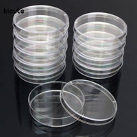 10Pcs Polystyrene Sterile Petri Dishes Bacteria Culture Dish for Laboratory Medical Biological Scientific Lab Supplies 55x15mm