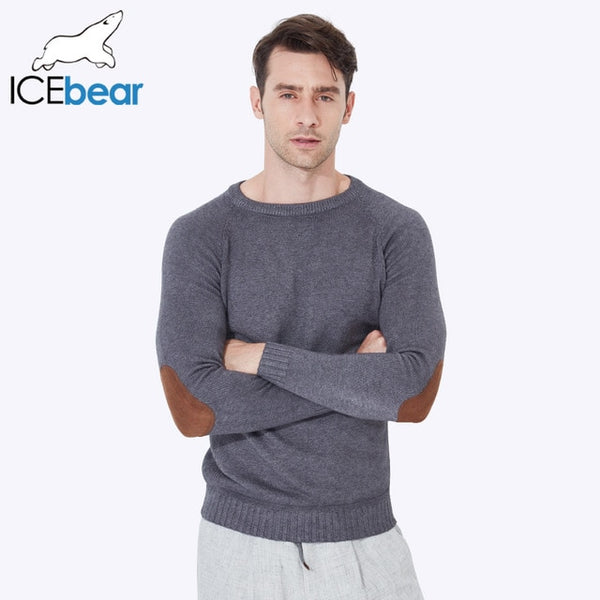 ICEbear 2017 New Autumn Winter Men Sweaters Pullovers Knitted Thick Warm Design Slim Fit Casual Knitted Sweater Male 607D