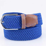 Fashion High Quality Men and Women's Canvas belt elastic stretch canvas belt pin buckle Knitted Belt braided belts young student