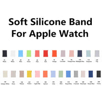 Colorful Soft Silicone Replacement Sport Band For 38mm Apple Watch Series1 2 42mm Wrist Bracelet Strap For iWatch Sports Edition