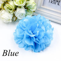 "15pcs 4"" 6"" 8""(10cm 15cm 20cm) Tissue Paper Pom Poms Colorful Flower Kissing Pompom Balls for Wedding party home Decoration"