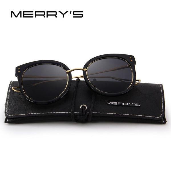 MERRY'S DESIGN Women Retro Sunglasses Cat Eye Polarized  Sun Glasses 100% UV Protection S'6115