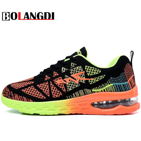 BOLANGDI Outdoor Sports Men And Women Air Cushion Running Shoes Summer New Arrivals Breathable Cozy Brand Mens Sneakers Shoes