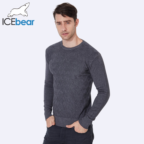 ICEbear 2017 Autumn Men's Sweaters Pullovers Thick Warm Casual Knitted Man Knitwear Long Sleeve O-Neck Sweaters For Men 721D