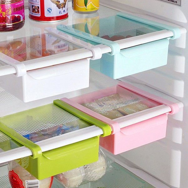 Hoomall Creative Refrigerator Storage Box Fresh Spacer Layer Storage Rack Drawer Fresh Spacer Sort Kitchen Tool 16.5x15cm