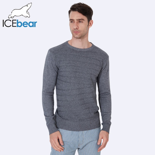 ICEbear 2017 Male Pullover Men's O-Neck Sweater Standard Wool Long Sleeve New Autumn Winter Sweater Men Computer  Knitted 1939D